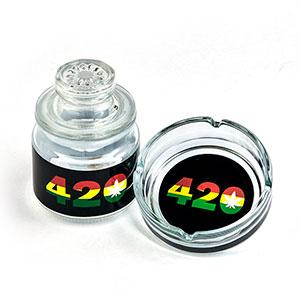 ASHTRAY SET WITH STASH JAR