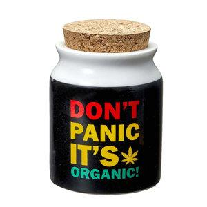 DONT PANIC STASH JAR