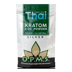 OPMS KRATOM SILVER GREEN VEIN THAI POWDER
