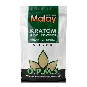 OPMS KRATOM SILVER GREEN VEIN MALAY POWDER