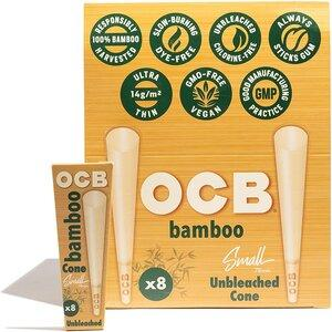 OCB BAMBOO PRE-ROLLED SMALL CONES 78MM - 8PK